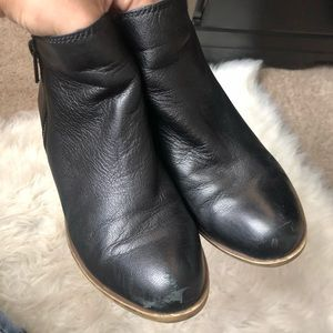 Lucky Brand Shoes - Lucky Brand Black Basel Leather Ankle Booties